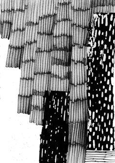 Mark Making - monochrome pattern, textile print design // Eva Bellanger Textile Texture, Art Textile, Textile Patterns, Textile Prints, Print Patterns, Glitch Art, Surface Pattern Design, Pattern Art, 3d Foto