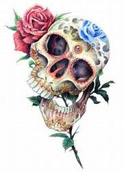 Image result for Beautiful Sugar Skull Art