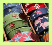 Traditional Needlepoint Belts by Smathers and Branson.  They are perfect for a day on the water, links, or a night at your favorite watering hole.    We have spotted our traditional needlepoint belts at cocktail parties and at the  office, but they are also perfect for a day on the water, the links, or  a night at your favorite watering hole. Wherever you may be, your belt  will set you apart from the average waist.