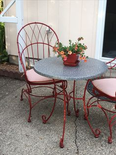 Place to rest Forged Steel, Outdoor Furniture, Outdoor Decor, Rest, Gardening, Places, Table, Home Decor, Decoration Home