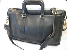 Authentic Vintage Coach Black Leather Embassy Brief by CLASSYBAG