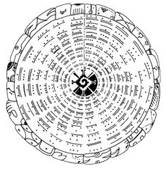 Radial tzolkin with Mayan symbol for Galactic Center at core.