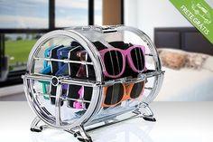 Porta-óculos giratório para até 8 unidades, por apenas R$179.90