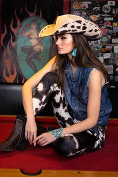 Cowboy Outfits, Outfits With Hats, Country Outfits, Western Outfits, Western Wear, Country Girls, Cute Outfits, Country Dresses, Western Chic