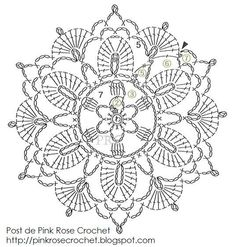 Irish Crochet Flower Motif Grafico Pattern | Crochet piccolini