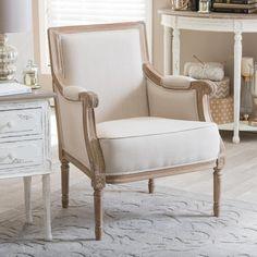 Baxton Studio Conradina Light Beige Linen Arm Chair-28862-6024-HD - The Home Depot