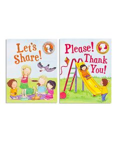 This Let's Share! & Please! Thank You! Hardcover Set is perfect! #zulilyfinds