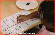 Q-Tip counting activity is great for assessment!  And it's painting!