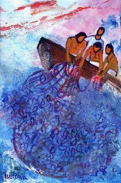 Bernadette Lopez, Berna Christian Paintings, Christian Art, Lds Art, Bible Art, Catholic Art, Religious Art, Bible Illustrations, Illustration Art, Art Prophétique