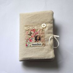 Handmade Needle Book with 6 felt pages