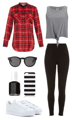"""Meeting Twaimz"" by abbywilbur ❤ liked on Polyvore featuring Vince, River Island, Vero Moda, adidas, Monki, Forever New and Essie"