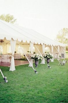 elegant tented garden wedding ideas