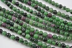 Vibrant Ruby Zoisite Round 6mm