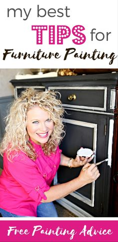 Paint Furniture like a pro with my best painting tips for furniture painting…