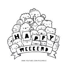 doodle-happy-weekend.jpg (888×888)