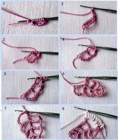 Simple Branch Irish crochet pattern / tutorial with step-by-step pictures, written instructions and charts. irishlacecrochet - Her Crochet Crochet Paisley, Crochet Leaf Patterns, Crochet Earrings Pattern, Freeform Crochet, Crochet Art, Thread Crochet, Crochet Motif, Crochet Flowers, Crochet Stitches