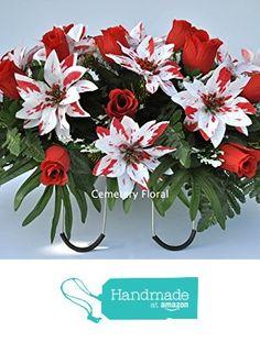 Funeral Floral Arrangements, Christmas Flower Arrangements, Christmas Flowers, Grave Flowers, Cemetery Flowers, Funeral Flowers, Cemetary Decorations, Flower Service, Memorial Flowers
