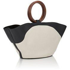 The Row Women's Market Bag (173.580 RUB) ❤ liked on Polyvore featuring bags, handbags, the row handbags, leather handbags, leather pouch, leather purses and white leather handbags