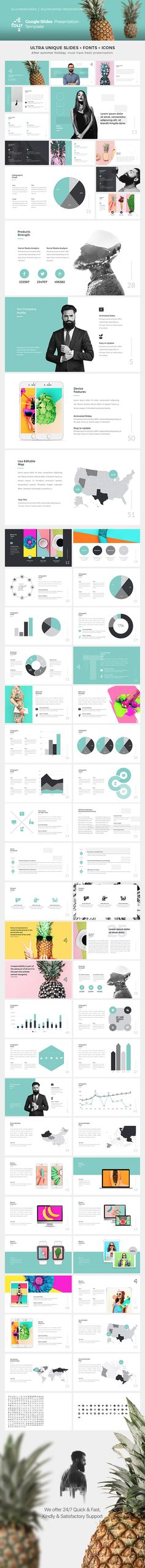 Four - Google Slides Presentation Template. Download here: https://graphicriver.net/item/four-google-slides-presentation-template/17639804?ref=ksioks
