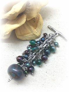 ** Interchangeable Handmade Glass Beaded Dangle Pendant Jewelry #971D @beaddangledesign