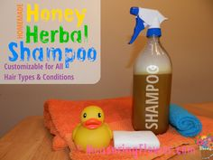 Homemade Honey Herbal Shampoo for All Hair Types and Conditions {Plus a Free Printable}