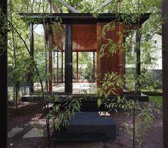 Meditation Room Shaped Like a Japanese Lantern: Tea House by David Jameson