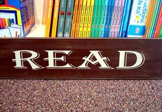 READ sign Under the Sycamore Tree Children's Bookstore in Grayslake, IL