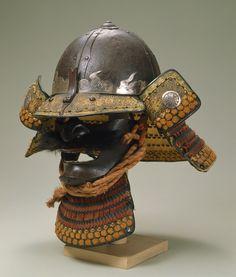 鉄錆地四枚張大円山形兜 Large Semispherical Kabuto Helmet