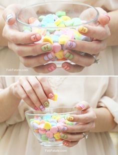 ADORABLE conversation nails!