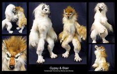 Custom Werewolf Dolls: Gypsy and Blair by WormsandBones.deviantart.com on @deviantART
