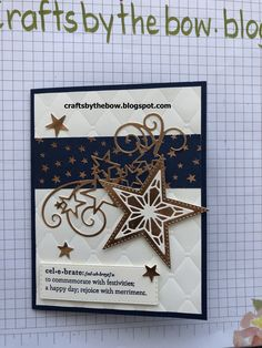 Stampin' Up! New Year Cards Handmade, Happy New Year Cards, Handmade Birthday Cards, Greeting Cards Handmade, Christmas Cards To Make, Holiday Cards, Christmas Stars, Christmas Ideas, 16th Birthday Card