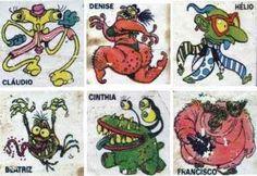 Como era duro decalcar figurinhas Ploc Monsters SEM NENHUMA FALHA nas margens do caderno.