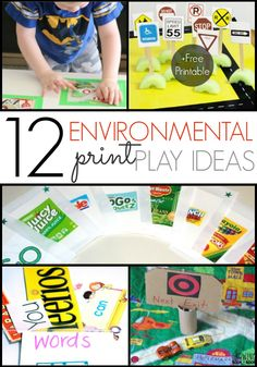 Ideas for Using Environmental Print to develop emergent literacy skills in your preschool pre-k or kindergarten kids. Perfect for at home or in the classroom. - Pre-K Pages Emergent Literacy, Literacy Skills, Kindergarten Literacy, Early Literacy, Preschool Classroom, Teaching Phonics, Preschool Letters, Literacy Stations, Classroom Ideas