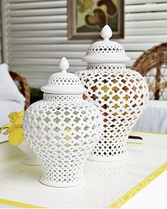 The Virginia Gail Collection: Spotted: Pierced Ginger Jars