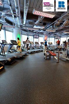 Neoflex 500 Series Rubber Fitness Flooring @ True Fitness Chevron House, Singapore