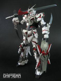 Love it!!!! RX-0 Unicorn Chimera Gundam I. I love the combination of mecha and swords.