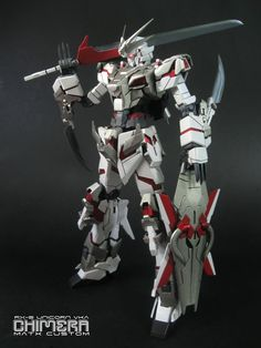 RX-0 Unicorn Chimera Gundam I. I love the combination of mecha and swords.