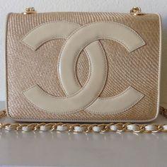 8dadf28e5f43 Chanel Classic Flap Rare Vintage Cc Beige Leather Raffia Shoulder Bag