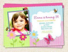 Butterfly Garden Birthday Invitation by LollipopPrints on Etsy, $12.00