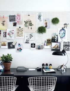I've been looking for ways to organize the small desk area in my studio [we have a spare room in the garage where I store my props and sometimes use for photo shoots or messy craft projects]. One idea that I like a lot is using a pegboard as a wall storage solution, freeing up space on...