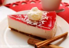 Vaaleanpunainen Nonparelli: Glögi-juustokakku