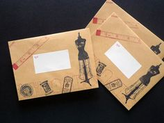 dd 信封 Rubber Stamp Set - Dressmaker @happy emilia :: nidBox親子盒子