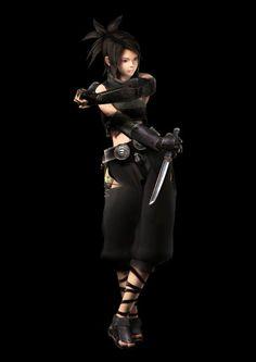 Ayame of Tenchu > > > Ayame (彩女) is a longtime member of the Azuma Ninja, dedicated to Lord Gohda Matsunoshin and his family. She is particularly close Ghoda's daughter, Kiku.
