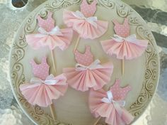 Tutu cupcake toppers. Maybe just the bottom half?