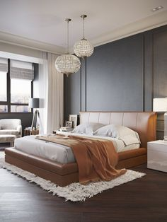 Small Bedroom Ideas - All the bedroom design ideas you'll ever need. Discover your design and also produce your desire bedroom system no matter what your spending plan, design or space size. Contemporary Bedroom Sets, Contemporary Bedroom Furniture, Contemporary Bedroom Design, Luxurious Bedrooms, Contemporary Interior, Home Decor, Modern Bedroom, Interior Design, Trendy Bedroom