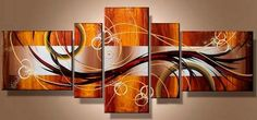 Swirl Decor Brown-Silver - 5 panel Multi Canvas Painting by LoveCustomArt on Etsy Multi Canvas Painting, Modern Oil Painting, Oil Painting Abstract, Canvas Wall Art, Oil Paintings, Modern Paintings, Wall Sculptures, Custom Art, Beautiful Paintings