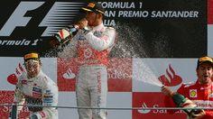Podium Monza F1 2012