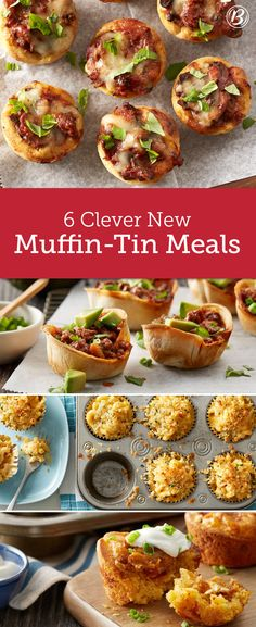 Dinner tonight, lunch tomorrow! From mac-and-cheese cups to muffin-tin beef enchiladas, these fun make-ahead muffin-tin meals are destined to be a hit with your family.