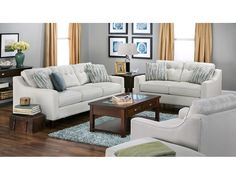 The Melody collection looks great with a coffee table or an ottoman!