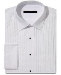 Sean John Dress Shirt, White Tuxedo Pleated French Cuff Long Sleeve Shirt - Mens Dress Shirts - Macy's